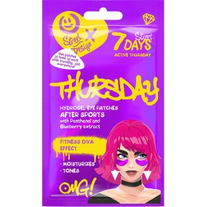 7DAYS Hydrogel eye patches ACTIVE THURSDAY with Panthenol and Blueberry Extract 2,5 g