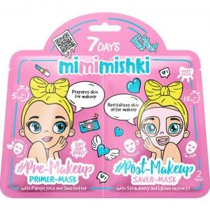 7DAYS MIMIMISHKI PRE & POST MakeUp Pink 25g/25g