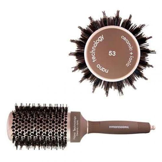 FFPROFESSIONAL Βούρτσα Μαλλιών Ισιώματος Νάιλον & Φυσική Τρίχα 53mm CHB4053
