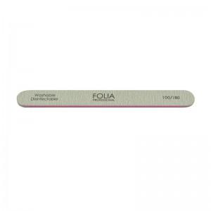 FOLIA COSMETICS Nail File Straight Grey (100/180)