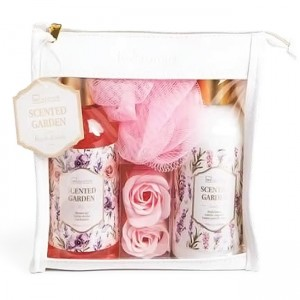 IDC Institute Scented Garden Rose & Lavender Bag Gift Set Αφρόλουτρο 200ml Body Lotion 200ml