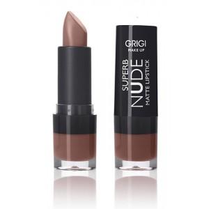 Grigi MakeUp Superb Nude Matte Lipstick 104  4.5gr