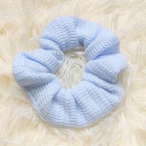 Scrunchie Πλεκτό Γαλάζιο