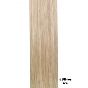 Sticker (10 Τμχ) Silk Feel Gold Line #Silver ice